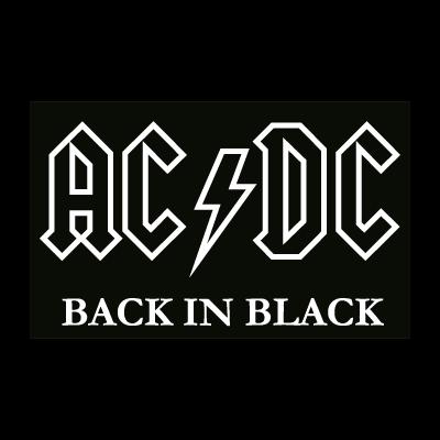 AC DC black logo vector