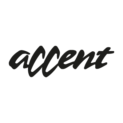 Accent logo vector