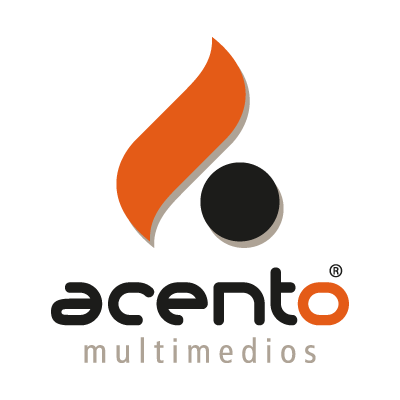 Acento Multimedios vector logo
