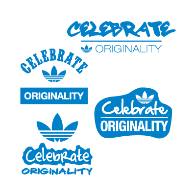 Adidas celebrate originality logo vector