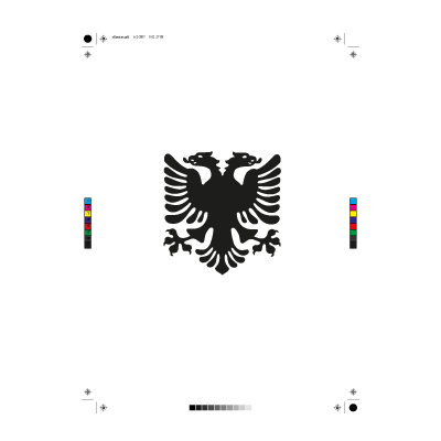 Albanain eagle logo vector
