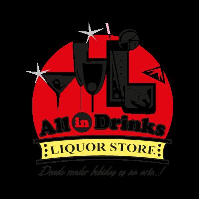 All in Drinks logo vector