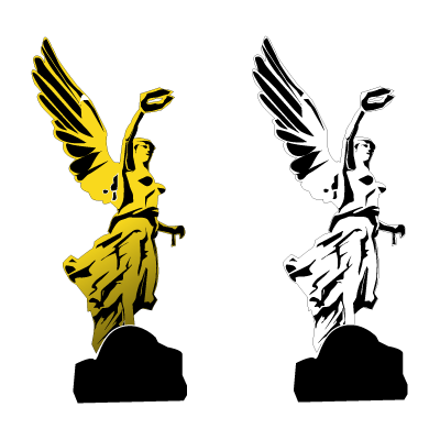 Angel de la independencia logo vector