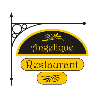 Angelique Restaurant logo vector