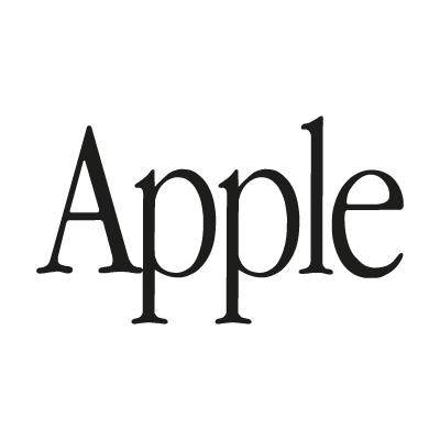 Apple (text) logo vector