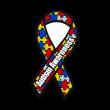Autism Awareness Ribbon logo vector
