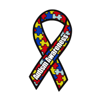 Autism Awareness Ribbon vector logo