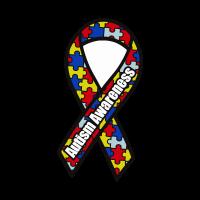 Autism Awareness Ribbon vector logo