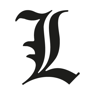 """L"" letter from Death Note logo vector"