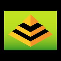 3d pyramid logo template