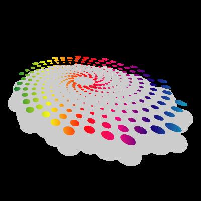 Abstract dot logo template