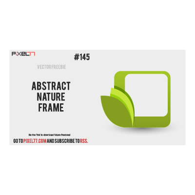 Abstract Nature Frame logo template