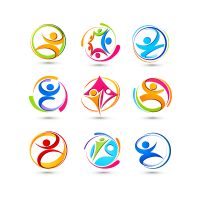Abstract symbols logo template
