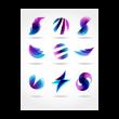 Abstract symbols shapes logo template