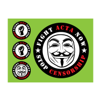 Acta sopa censorship logo template