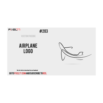 Airplane sketch ascending logo template