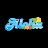 Aloha hawaii summer logo template