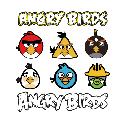 Angry birds logo template