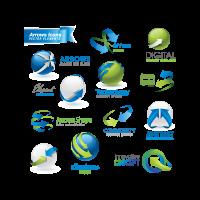 Arrow icons logo template