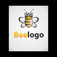 Bee Black-Gold logo template