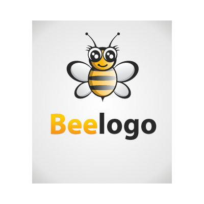 Bee Black-Gold logo template