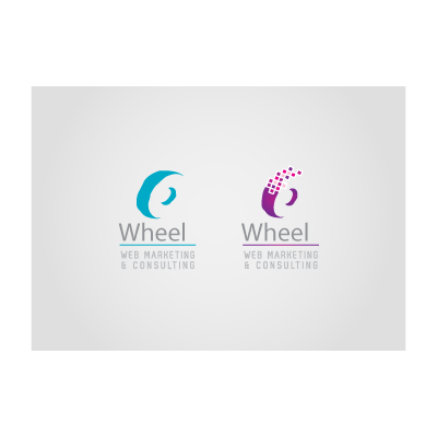 Blue and purple wheel logo template