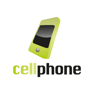 Cell phone logo vector