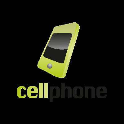 Cell phone logo vector
