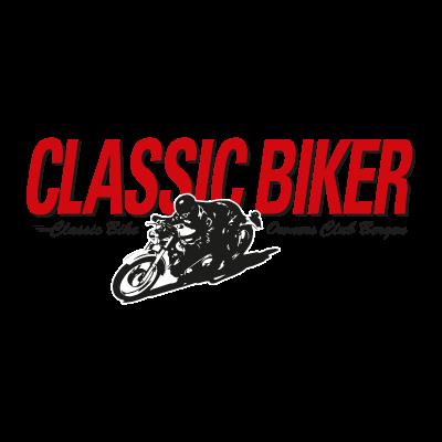 Classic Biker logo vector