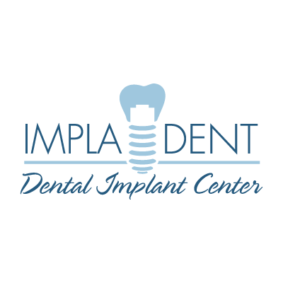 Clinica dental Impladent vector logo