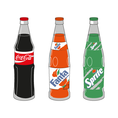 Coca-Cola 3 Products logo vector