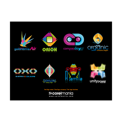 Colorful detailed logo template