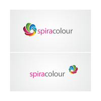 Colorful spiral logo template