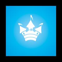 Cute castle logo template