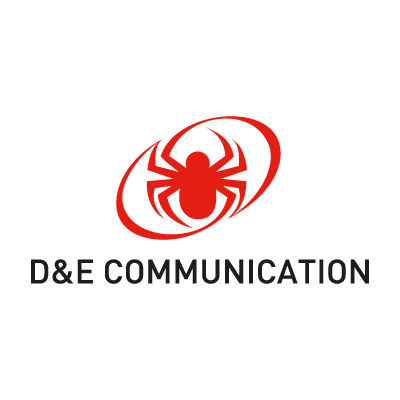D&E Communication logo vector