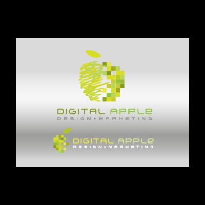Digital colorful apple logo template