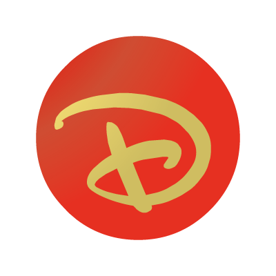 "Disney ""D"" ball logo vector"