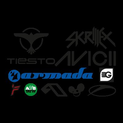 DJ logo template