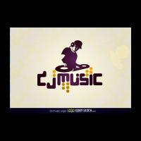 Dj music logo template