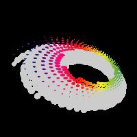 Dot vector shape logo template