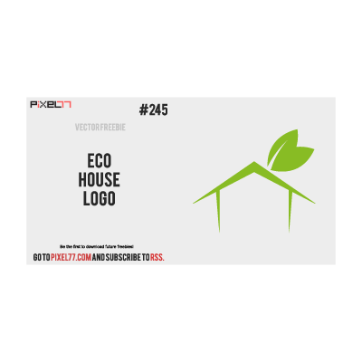 Eco House Logo logo template