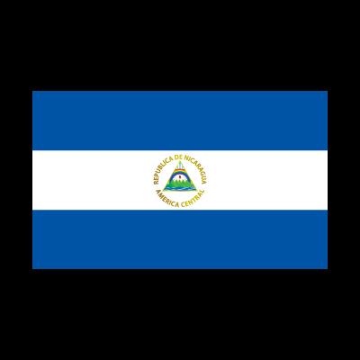 Flag of Nicaragua logo vector