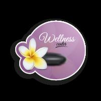 Flower on Spa stone logo template