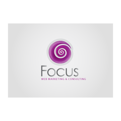 Focus purple logo template