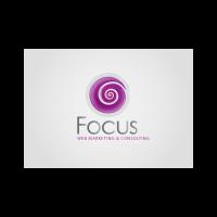 Focus web logo template