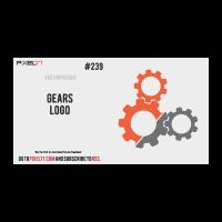 Gears logo template