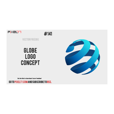 Globe logo concept logo template