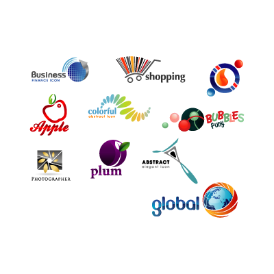 Glossy creative logo template