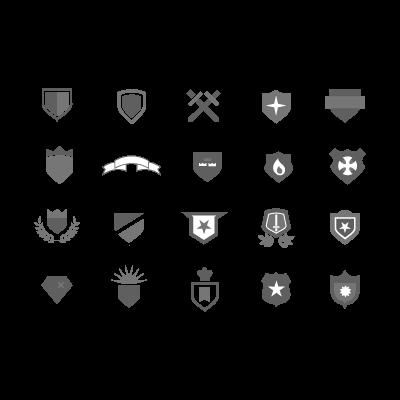 Heraldic crests logo template