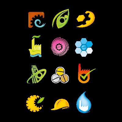 Industrial logo elements logo template
